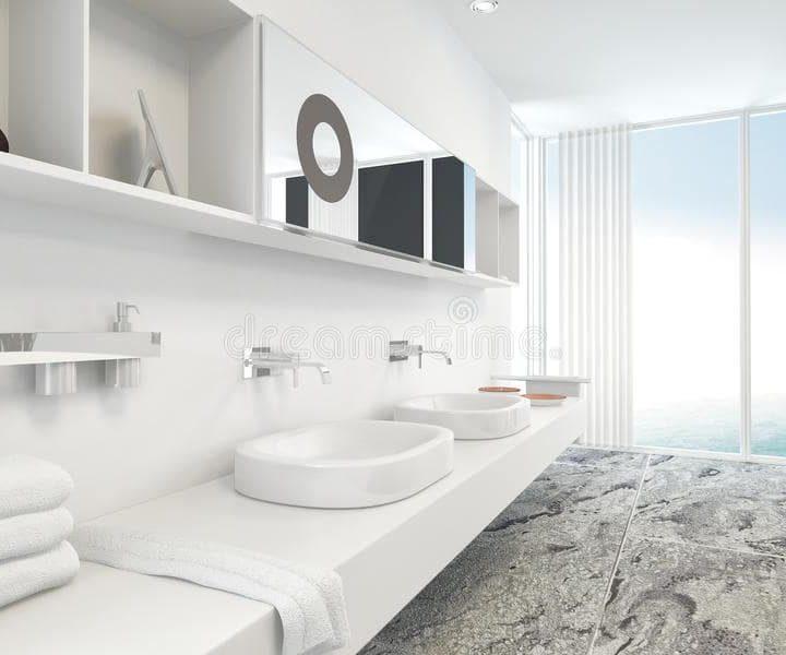 Marble Floors and Vanity Units